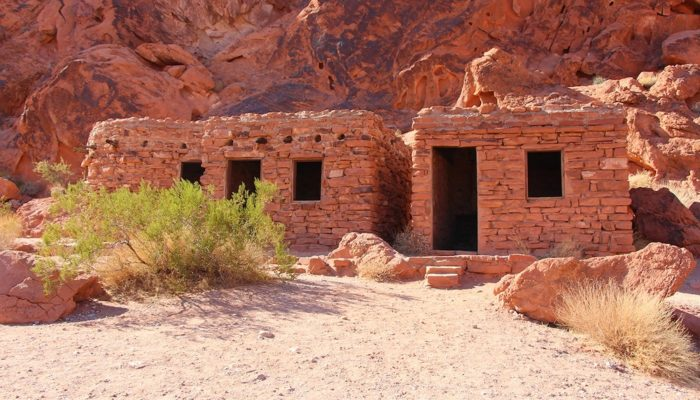 Hiker cabins from the 1930's in Valley of Fire State Park, Nevada.