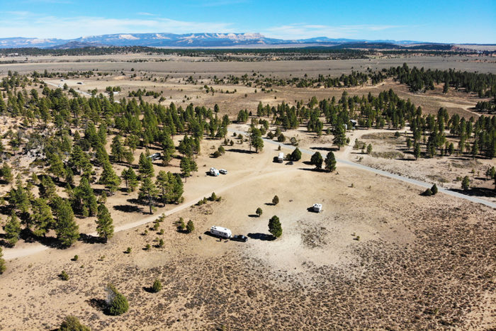 Large open area we camped in along Tom's Best Spring Road near Bryce Canyon National Park.