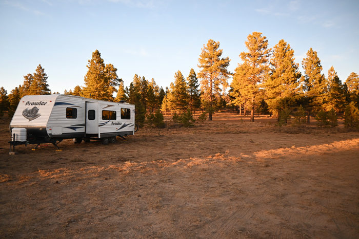 Free campsite at Tom's Best Spring near Bryce Canyon National Park in Utah.
