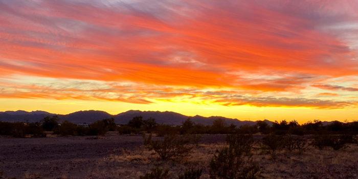 Sunset from Plomosa Road Quartzsite Arizona.