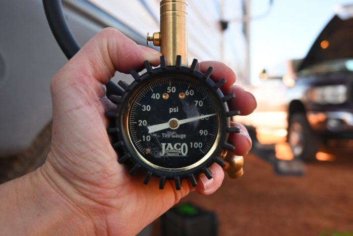 According to my Jaco tire pressure gauge the Slime tire inflator was able to inflate to 80 psi with no problems.