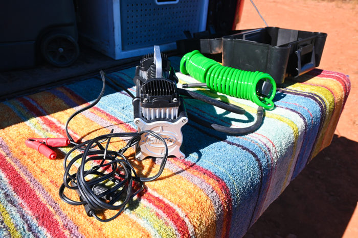 Slime Heavy Duty Direct Drive Tire Inflator and accessories.
