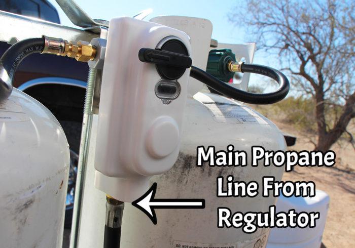 oil in an rv propane regulator