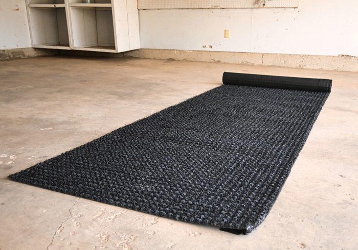 Den-Dry mattress underlay rolled out