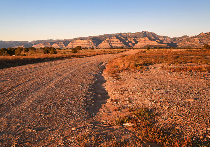 Entrance to largest campsite on horse canyon road dispersed in utah