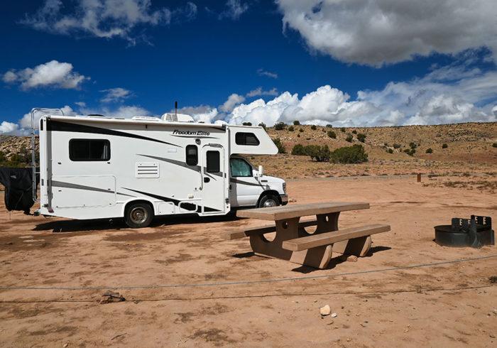 Campsite at the Rabbit Valley Camping Area in Colorado