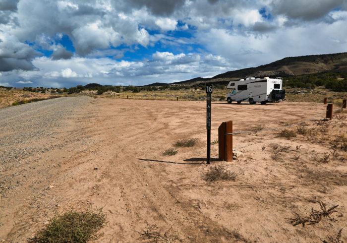 Campsite 16 at Rabbit Valley Camping Area Colorado