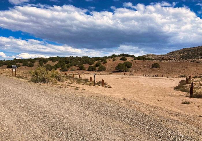 Last campsite at the Rabbit Valley Camping Area Colorado