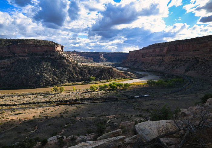 View of Colorado River from Rabbit Valley Camping Area